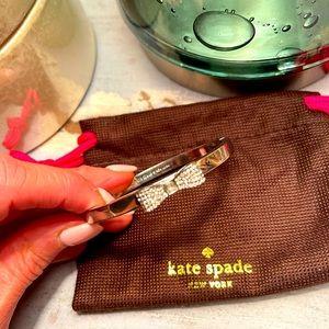 GUC Kate Spade 2016 Ready Set Bow Silver Bangle